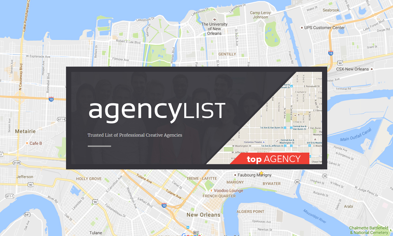 Culturecast named Top Agency in New Orleans by agencyLIST!